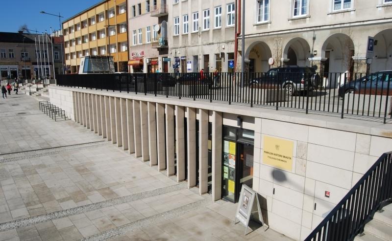Widok na Pawilon Historii Miasta Gorlice.