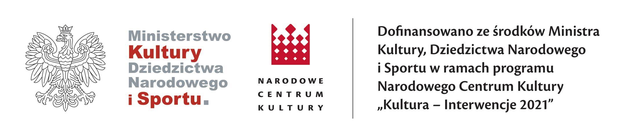 Baner zlogotypami Narodowego Centrum Kultury iMinisterstwa Kultury.
