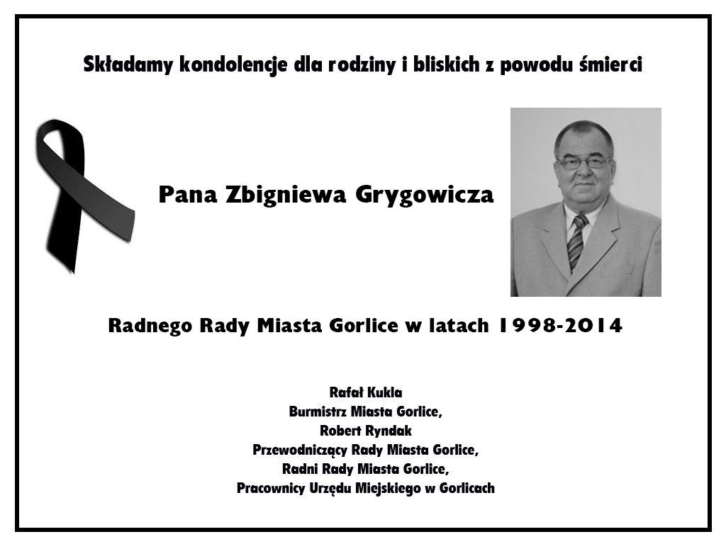 Zmarł Zbigniew Grygowicz
