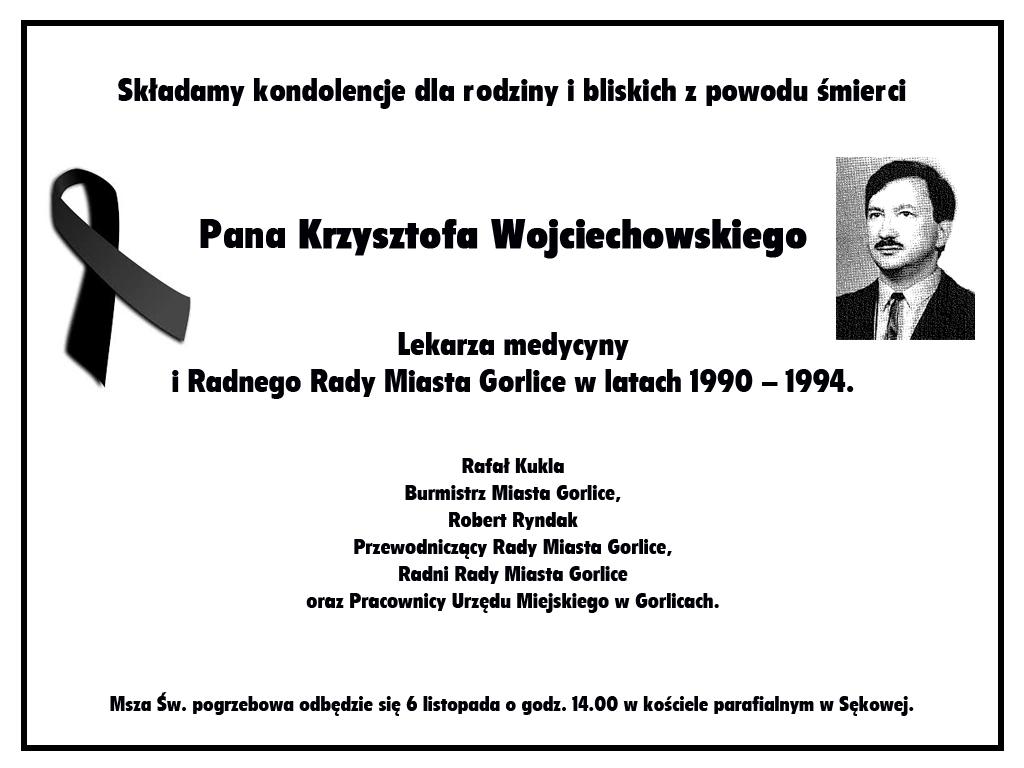 Nekrolog Krzysztofa Wojciechowskiego.