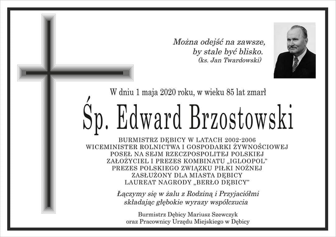 Nekrolog Edwarda Brzostowskiego.